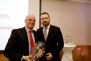 Cathal Cusack received the ACCA Accountant of the Year Award 2016