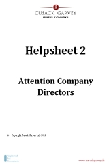 Helpsheet 2